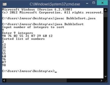 Bubble sort java program with example