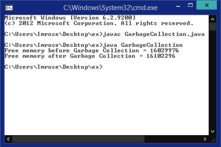 Program to Check Garbage Collection in Java