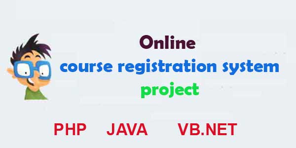 Online course registration system project php vb.net java