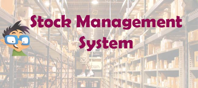 stock management system project PHP VB