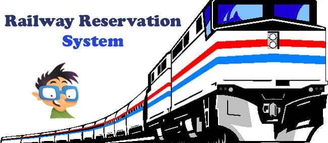 online railway reservation system project